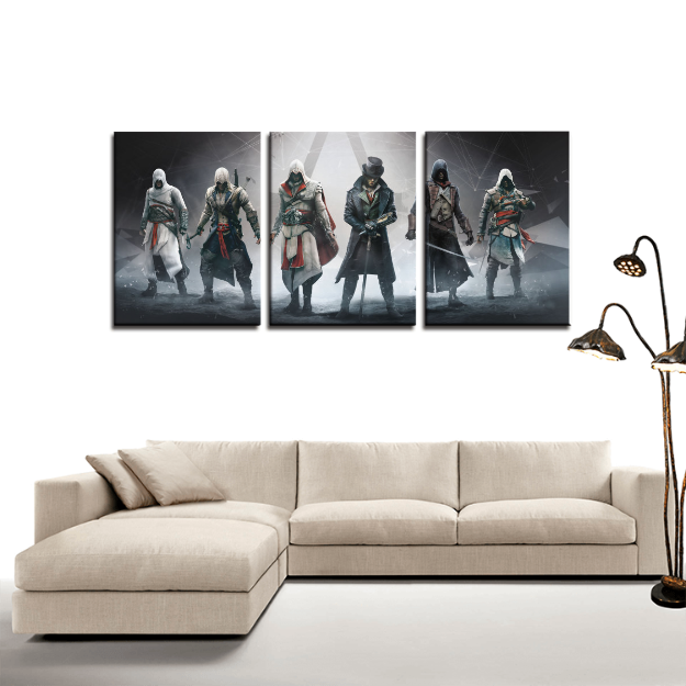 Assassin S Creed Characters Cool 3pc Canvas Wall Art Decor Game Geek Shop