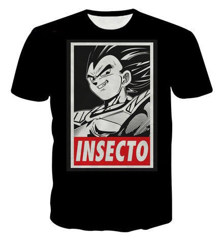 Dragon Ball Vegeta Insecto Portrait T-shirt - Game Geek Shop