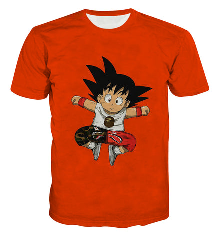 Dragon Ball Kid Goku BAPE Hypebeast T-shirt - Game Geek Shop