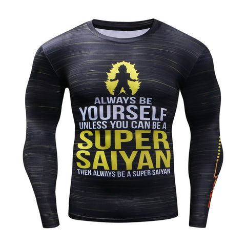 Dragon Ball Super Saiyan Quote Dope Compression Shirt - Game Geek Shop