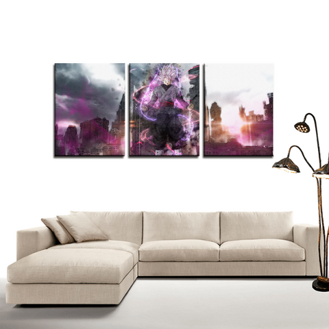 DBZ Zamasu Fuse Goku Black Anime 3pc Canvas Wall Art Decor - Game Geek Shop
