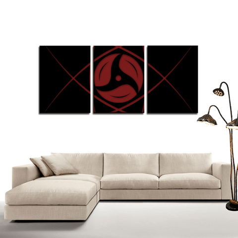 Naruto Itachi's Mangekyou Sharingan 3pc Canvas Wall Art Decor - Game Geek Shop