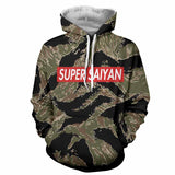 Dragon Ball Goku Kanji Tiger Stripe Camo Hoodie - Game Geek Shop