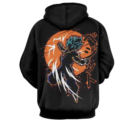 DBZ Vegito Blue SSGSS Anime Theme Hoodie - Game Geek Shop