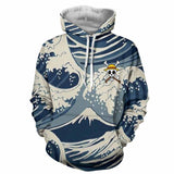 One Piece Japan Great Wave Pattern Hoodie - Game Geek Shop