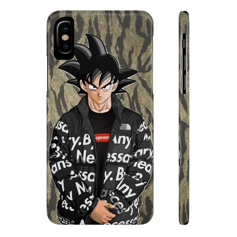 DBZ Goku Northface Supreme Hypebeast Phone Case - Game Geek Shop