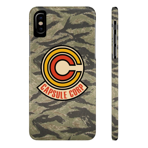 DBZ Capsule Corp Logo Tiger Stripe Pattern Phone Case - Game Geek Shop