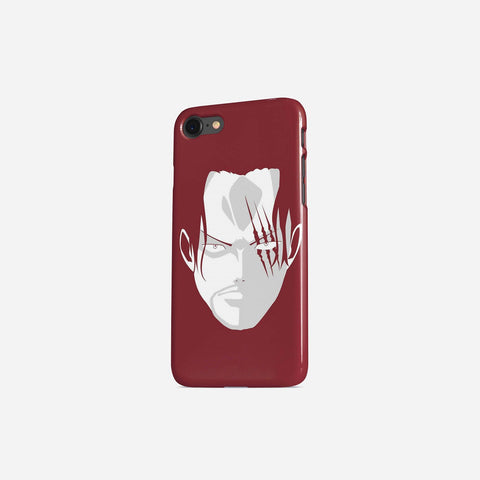 One Piece Red Hair Shank Portrait Cool Phone Case - Game Geek Shop