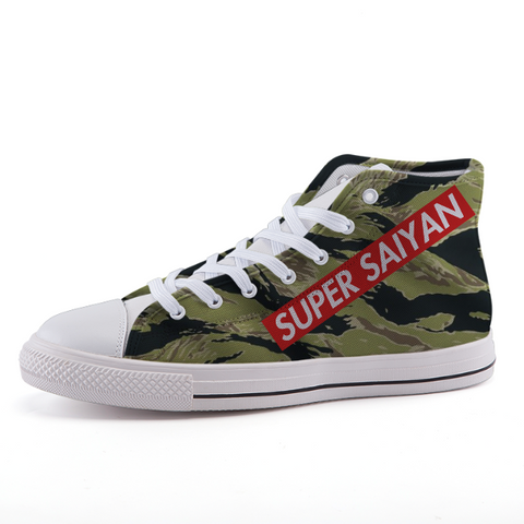 Super Saiyan Supreme Style Camo Dope Sneaker Shoes - Game Geek Shop