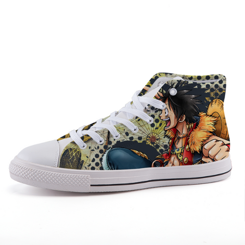 One Piece Monkey Luffy Anime Theme Design Sneaker Shoes - Game Geek Shop