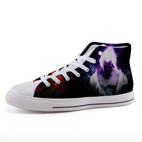 Naruto Neon Sasuke Dope Art Design Anime Sneaker Shoes - Game Geek Shop