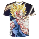 Dragon Ball Majin Vegeta Super Saiyan Design T-Shirt - Game Geek Shop