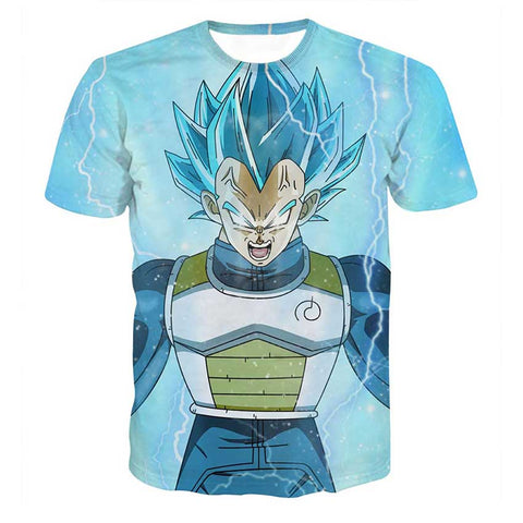 Dragon Ball Vegeta SSGSS Whis Symbol Dope Design T-Shirt - Game Geek Shop