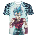 Dragon Ball Vegeta SSGSS God Blue Dope Design T-Shirt - Game Geek Shop