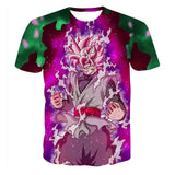 Dragon Ball Goku Black Saiyan Rose Cool Design T-Shirt - Game Geek Shop