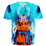 Dragon Ball Goku SSGSS Whis Symbol Vibrant Art T-Shirt - Game Geek Shop