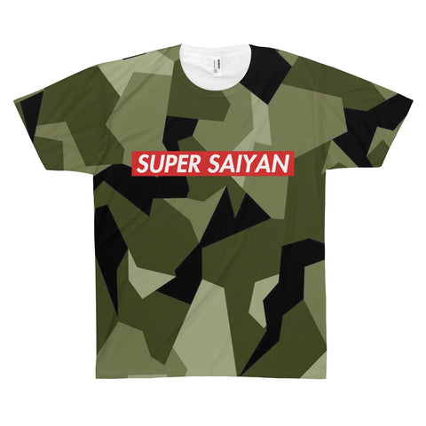 Dragon Ball Super Saiyan Geometric Camo Style T-shirt - Game Geek Shop