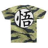 Dragon Ball Camo Tiger Stripe Goku Kanji Cool T-shirt - Game Geek Shop