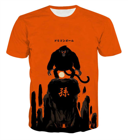 Dragon Ball Goku Great Ape Anime T-shirt - Game Geek Shop