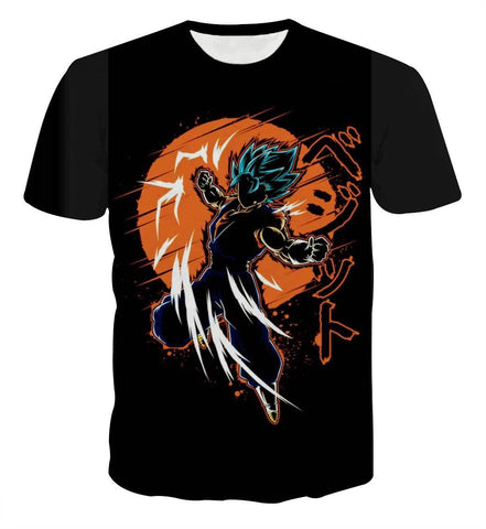 DBZ Vegito Blue SSGSS Anime Theme T-shirt - Game Geek Shop