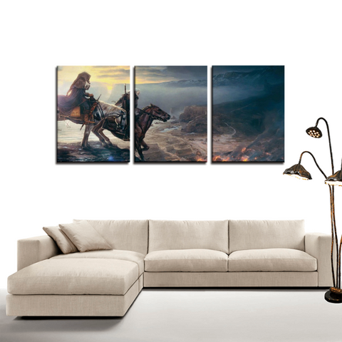 The Witcher Game Concept Design 3pc Canvas Wall Art Decor - Game Geek Shop