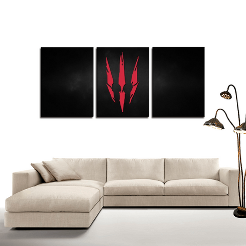 The Witcher 3 Wild Hunt Symbol 3pc Canvas Wall Art Decor - Game Geek Shop