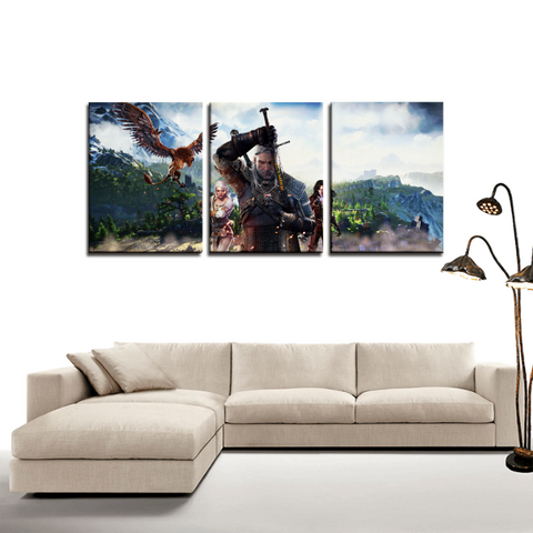 The Witcher Game Art Design 3pc Canvas Wall Art Decor - Game Geek Shop