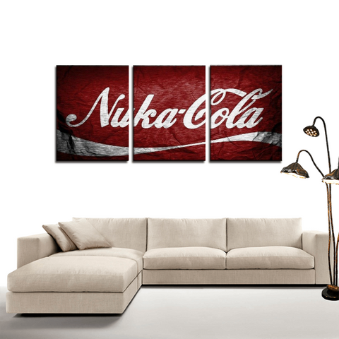 Fallout Nuka Cola Banner Dope 3pc Canvas Wall Art Decor - Game Geek Shop