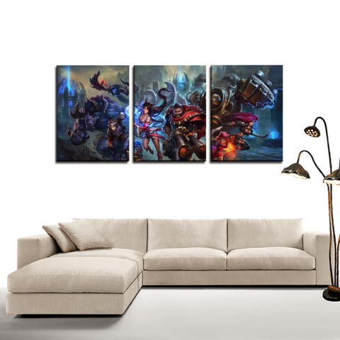 League of Legends LOL Heroes 3pc Canvas Wall Art Decor - Game Geek Shop
