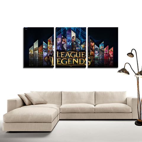 League of Legends LOL Cool Game 3pc Canvas Wall Art Decor - Game Geek Shop