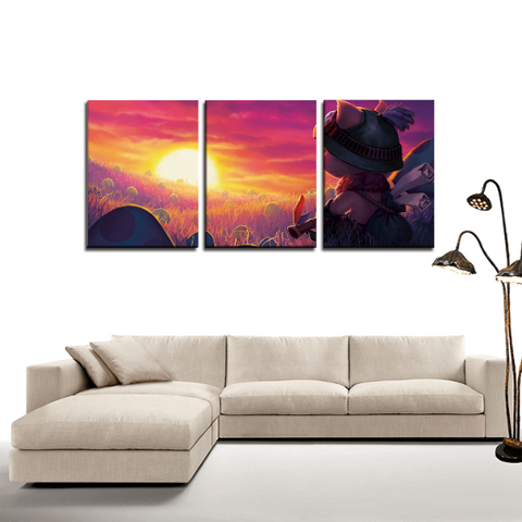 League of Legends LOL Teemo 3pc Canvas Wall Art Decor - Game Geek Shop