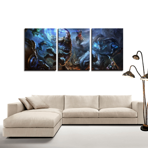 League of Legends LOL Battle Game 3pc Canvas Wall Art Decor - Game Geek Shop