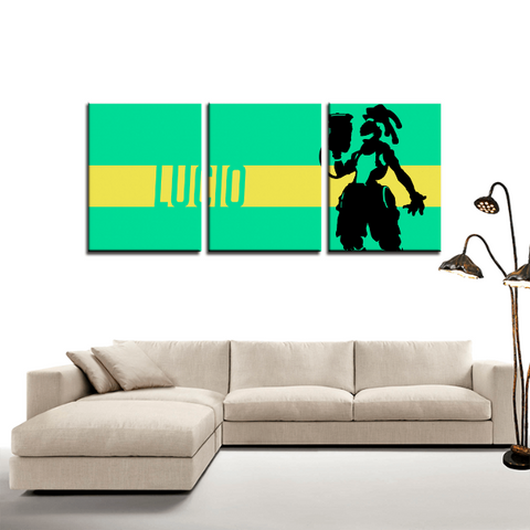 Overwatch Lucio Game Design 3pc Canvas Wall Art Decor - Game Geek Shop