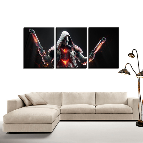 Overwatch Reaper Dope Design 3pc Canvas Wall Art Decor - Game Geek Shop