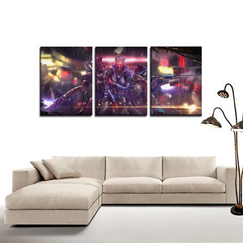 Overwatch Heroes Fan Art Design 3pc Canvas Wall Art Decor - Game Geek Shop