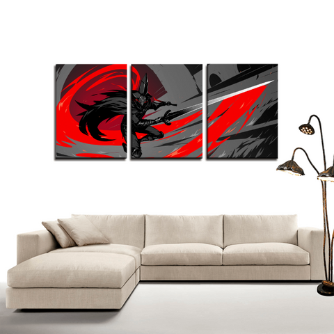 Dark Souls Gaming Theme Retro 3pc Canvas Wall Art Decor - Game Geek Shop