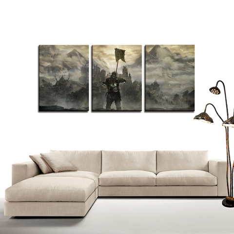 Dark Souls Game Poster Cool 3pc Canvas Wall Art Decor - Game Geek Shop