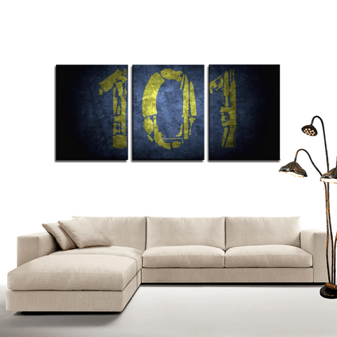 Fallout Vault 111 Game Design 3pc Canvas Wall Art Decor - Game Geek Shop