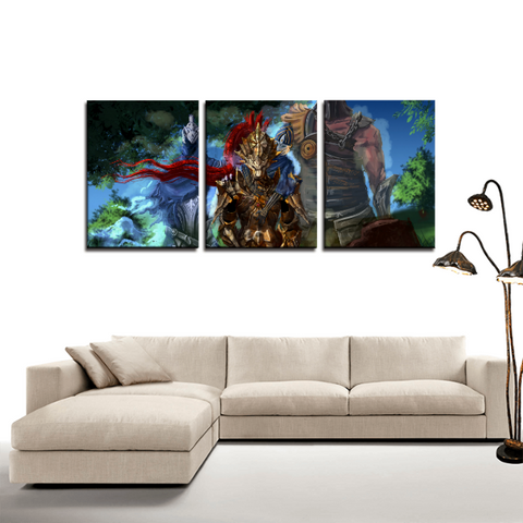 Dark Souls Ornstein Dragonslayer 3pc Canvas Wall Art Decor - Game Geek Shop