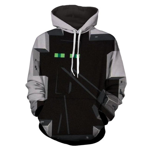 Minecraft Enderman Creature Art Design Gaming Theme Hoodie - Game Geek Shop