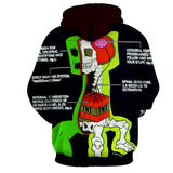 Minecraft Creeper Anatomy Creative Design Gaming Hoodie - Game Geek Shop