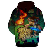 Minecraft Steve Fight Monster Fan Art Design Gaming Hoodie - Game Geek Shop