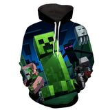 Minecraft Mob Creeper Enderman Ghast 8Bit Style Game Hoodie - Game Geek Shop