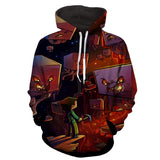 Minecraft Mob Ghast Fireball Vibrant Artwork Gaming Hoodie - Game Geek Shop
