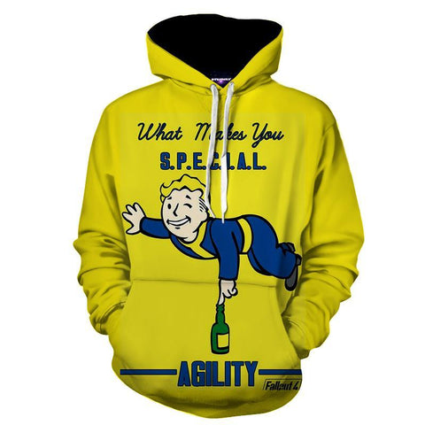 Fallout  S.P.E.C.I.A.L Agility Perk Game Design Hoodie - Game Geek Shop