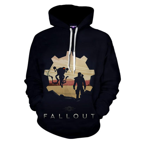 Fallout 4 Sole Survivor Codsworth Vault 111 Game Hoodie - Game Geek Shop
