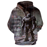 Fallout 4 T-60 Power Armor Frame Concept Art Hoodie - Game Geek Shop