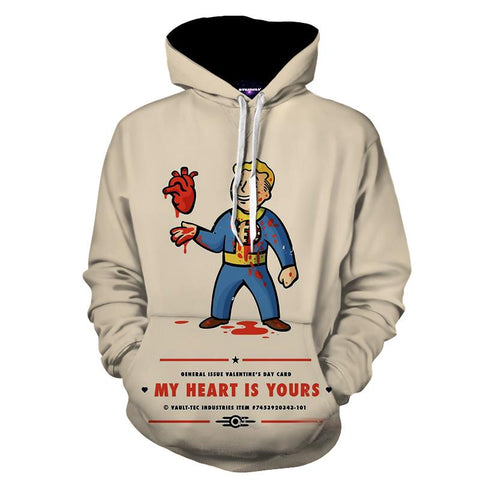 Fallout Game Humor Valentine Card Funny Hoodie - Game Geek Shop