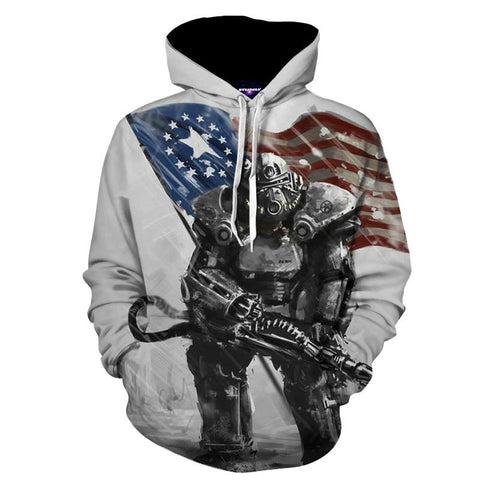 Fallout 4 T-60 Power Armor Dope Design Hoodie - Game Geek Shop