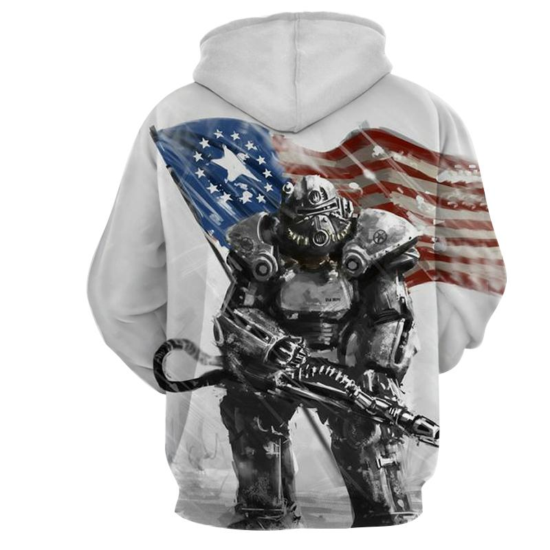 T & T Auto Sales >> Fallout 4 T-60 Power Armor Dope Design Hoodie – Game Geek Shop